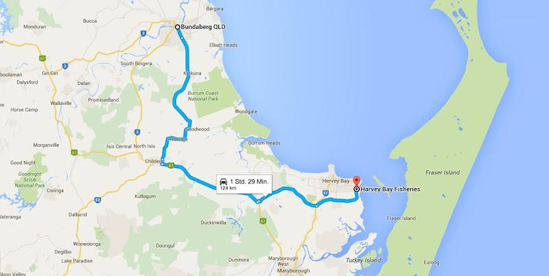 z46 von Bundaberg nach Harvey Bay