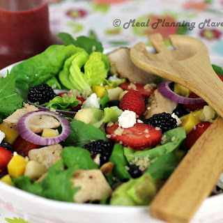 Grilled Chicken Salad with Berry-Balsamic Vinaigrette.
