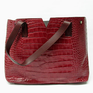 Vince. Croc Embossed Leather Tote