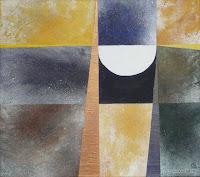 """""""Die Elemente der Erde aufnehmen"""", Öl auf Leinwand, 68x60, 2008"""