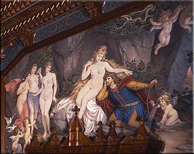 Tannhäuser en el monte de venus. Mural del despacho, joseph aigner