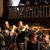 The University of West Florida Jazz Band, directed by Joe Spaniola, and the Pensacola Junior College Jazz Band, directed by Roger Villines, presented an exciting program of big band music.  Fresh from their well-received performances at the 2009 Pensacola JazzFest, both bands brought the house to their feet with enthusiastic applause.