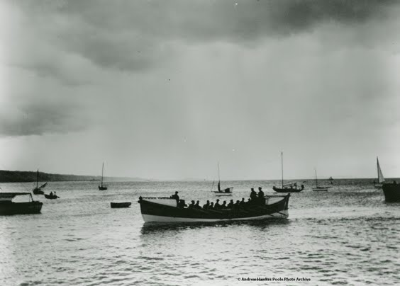 Harmar, Poole's lifeboat from 1910 to 1939. Her last launch was on 1 June 1938, bringing with it the end of the rowing and sailing era at Poole Lifeboat Station