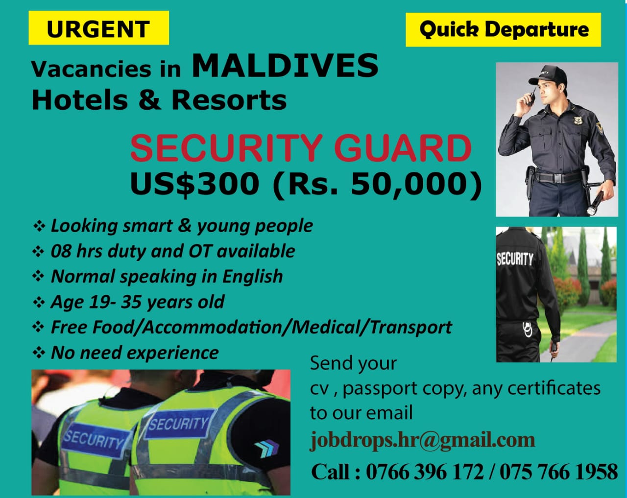 SECURITY GUARD -MALDIVES
