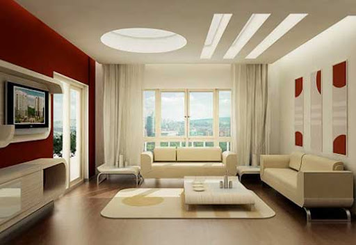 Sala de Estar Beautiful-Living-Room-With-Modern-Furniture