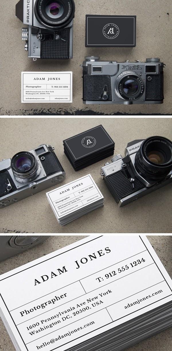 Vintage Cameras Cards MockUp PSD