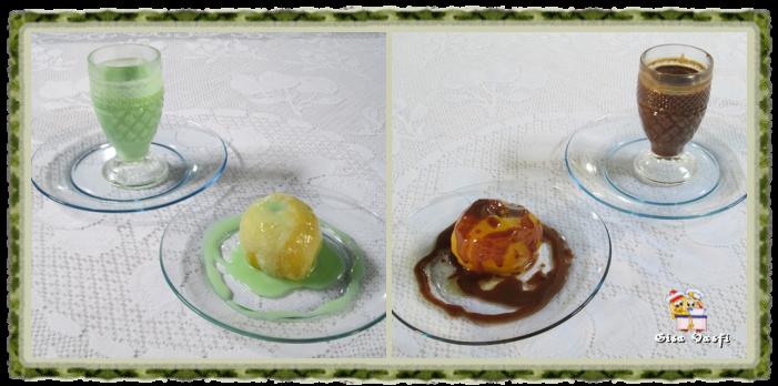 Compota de maçã com calda de chocolate 2