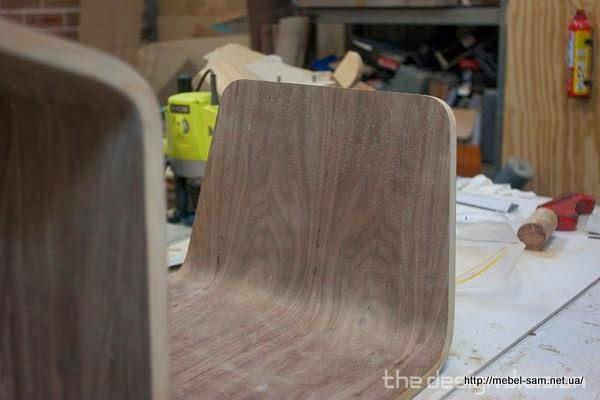 Основная деталь стула после подрезки
