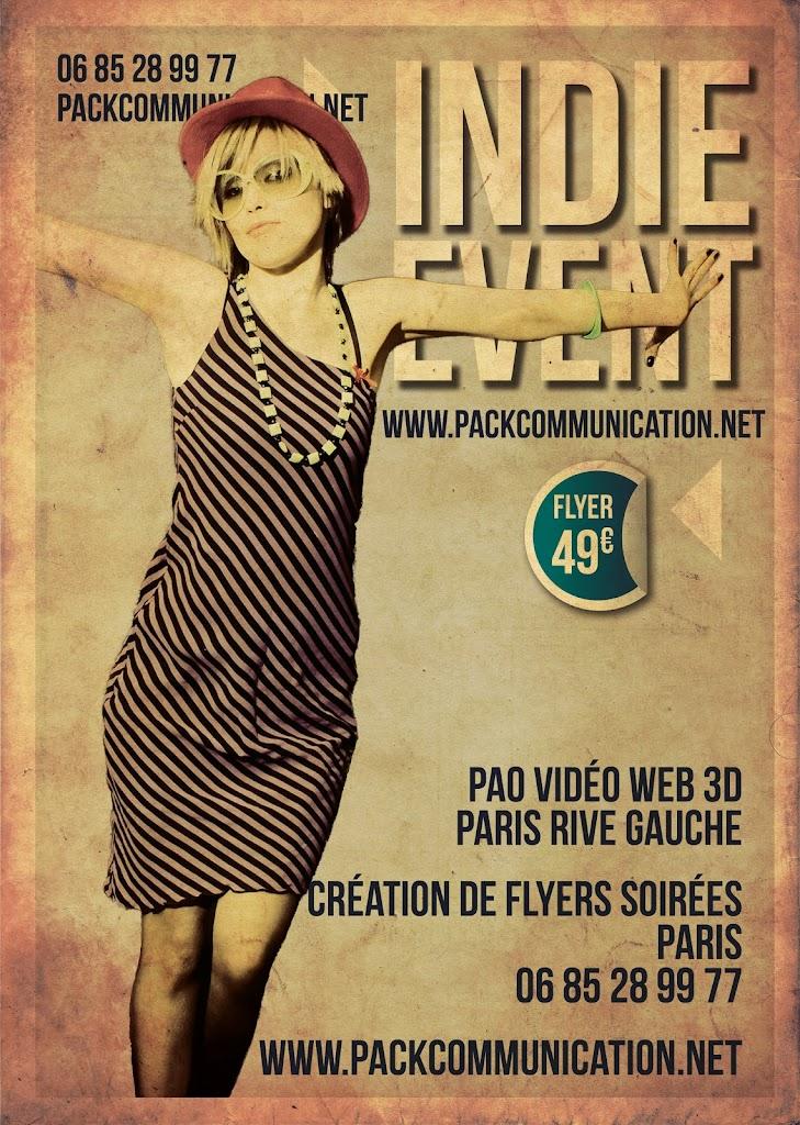création flyers soirées thème Indie Event
