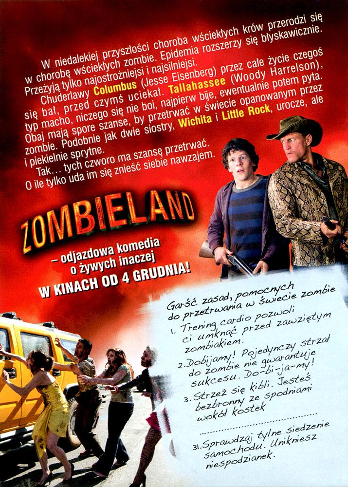 Ulotka filmu 'Zombieland (tył)'