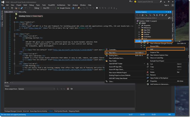 Database & Model Add New Item