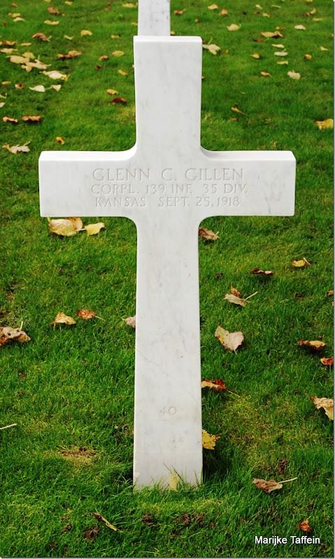 GILLEN_Glenn C_headstone_25 Sep 1918_Lorraine France