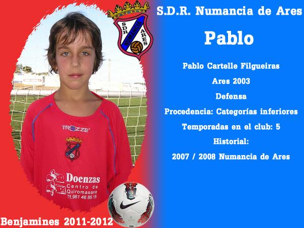 ADR Numancia de Ares. Benxamíns 2011-2012. PABLO.