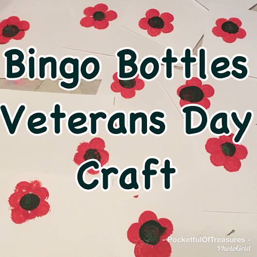 Bingo Bottles Veteran's Day Craft
