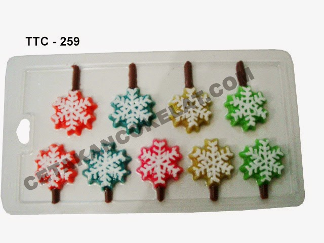 Cetakan Coklat TTC259 Natal Salju