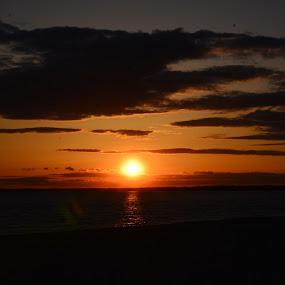 Sunset by Carl Testo - Landscapes Sunsets & Sunrises ( hammonasset, sunset, ocean, spring )