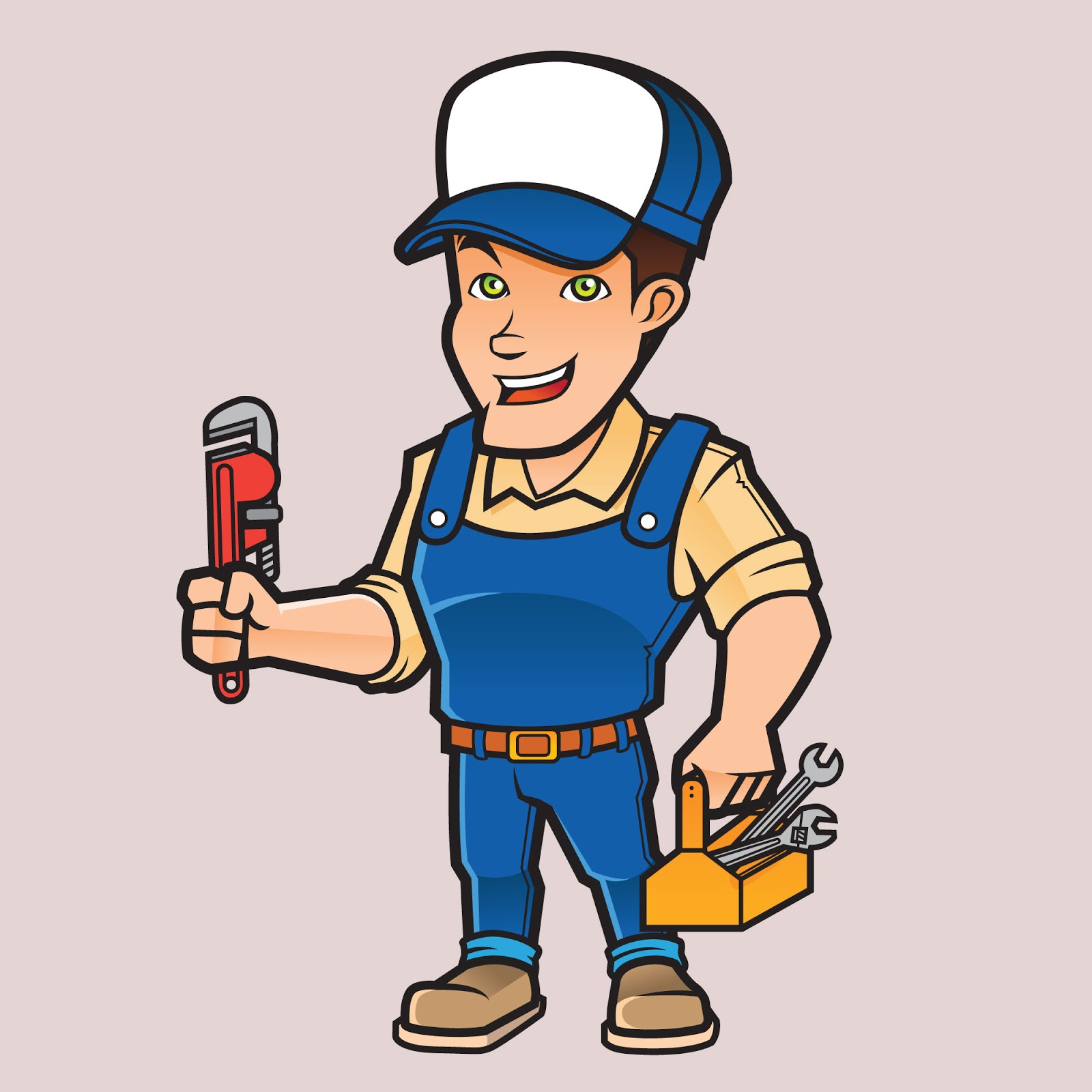 Plumber Mascot Logo Free Download Vector CDR, AI, EPS and PNG Formats