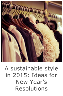 ideas for new years resolutions for a sustainable style in 2015
