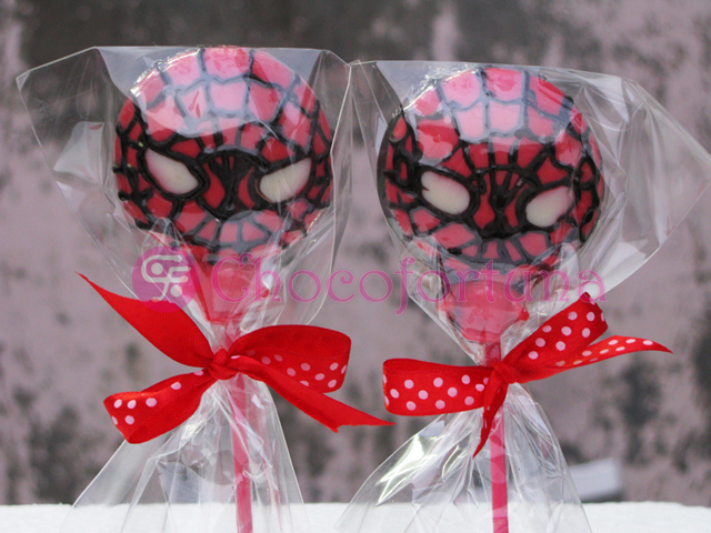 Cokelat coklat lolipop superhero spiderman