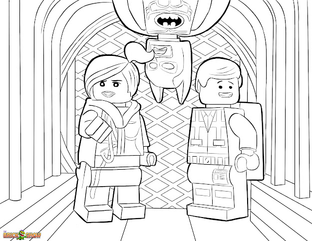 The Lego Movie Coloring Page Lego Wyldstyle Emmet  Batman Printable  Color Sheet
