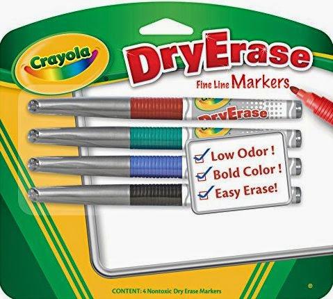 Sản phẩm bút lông viết bảng của Crayola đều được làm từ nguyên liệu có sẵn trong thiên nhiên nhiên nên tuyệt đối an toàn