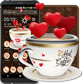 3D Friendship Coffee Love Theme