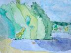 Watercolor Landscape by Katy
