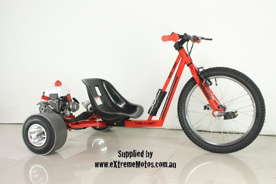 Drift Trike Motorised Petrol Powered Slider Drifting Tricycle bike for sale Red
