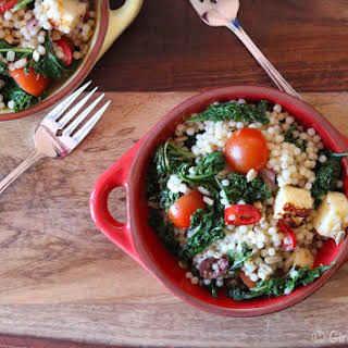 Grilled Halloumi Cheese and Couscous Salad.
