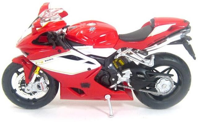 Đồ chơi mô hình xe máy MV Agusta F4 RR 2012 màu đỏ BBurago tỷ lệ 1:18