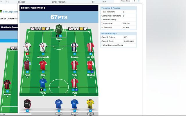 FPL Mini League Team Viewer