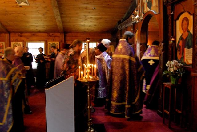Clergy make the Vesperal Entrance.