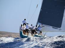 J/122 sailing Rolex Middle Sea Race