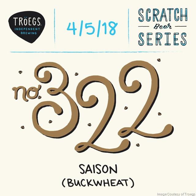 Troegs Releasing Scratch # 322 Buckwheat Saison