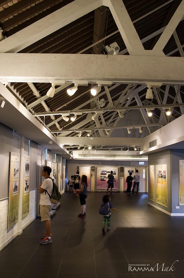 中區白色建築物裡展覽館之一