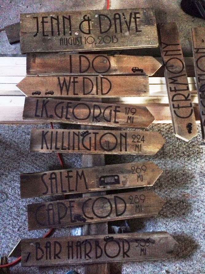 Jeep wooden wedding sign