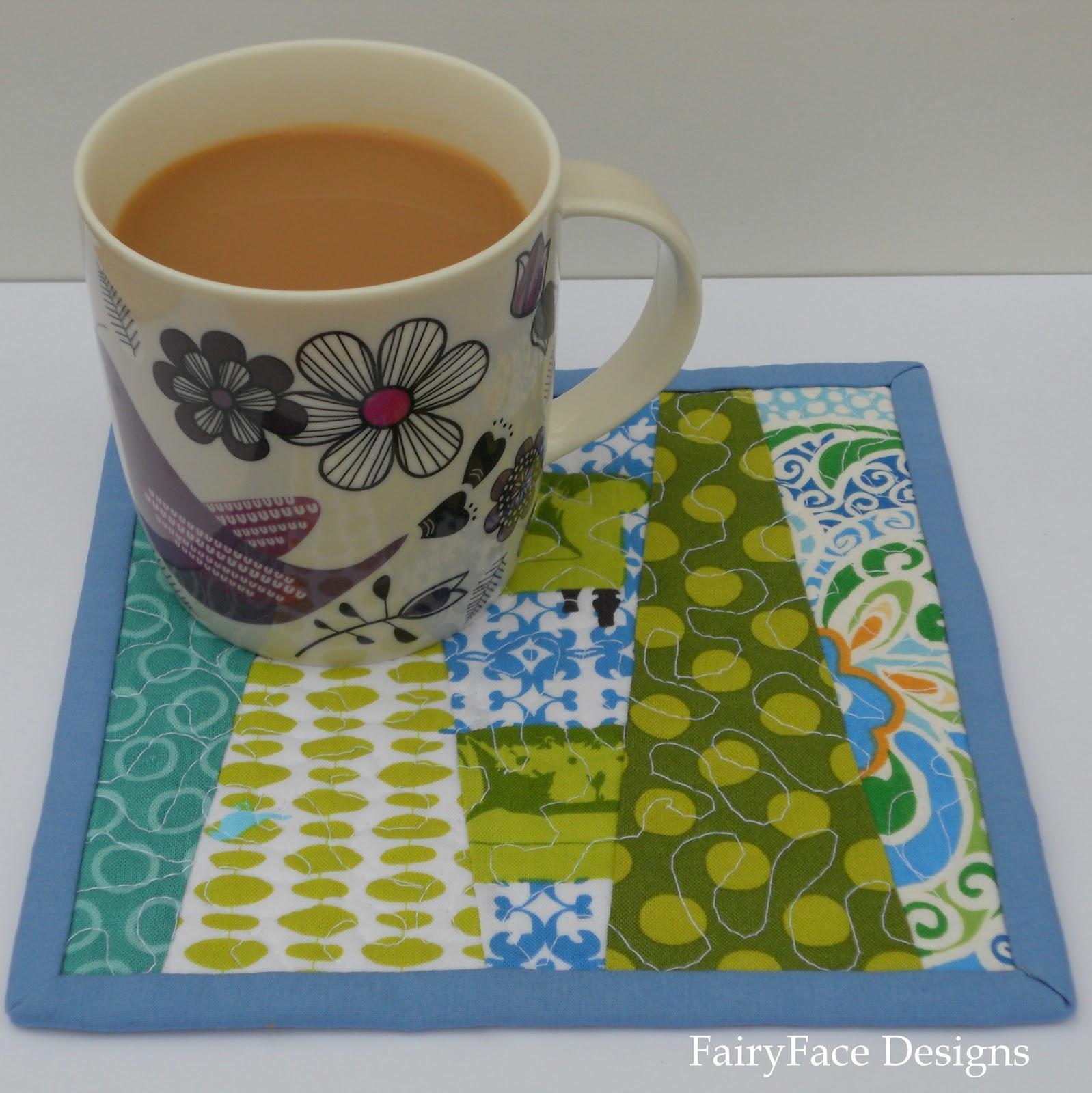 FairyFace Designs: Real Life And Mug Rugs