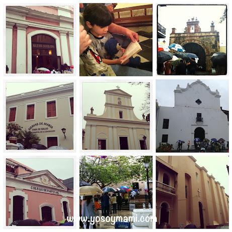 Las Estaciones de la Cruz en el Viejo San Juan - bajo lluvia!