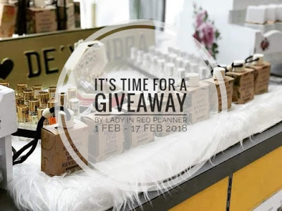 FEBRUARY GIVEAWAY by Lady in Red Planner, Blogger Giveaway, Hadiah, Perfume, Dexandra, Peserta, Blog, Senarai, Pemenang,