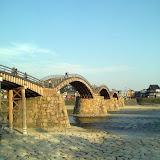 夕暮れの錦帯橋