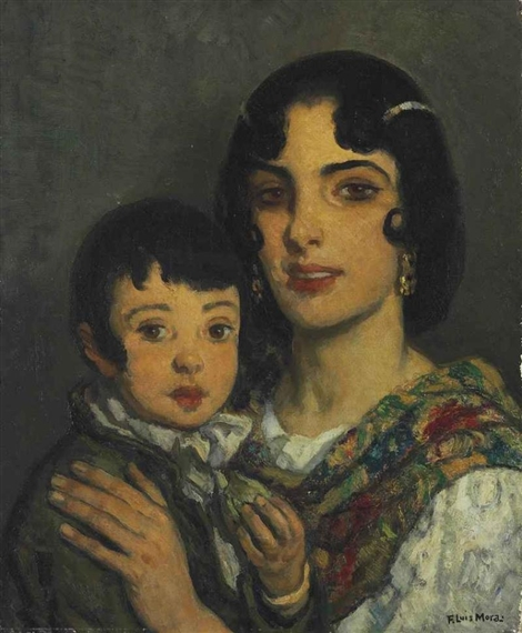 Francis Luis Mora - Mother and Child.