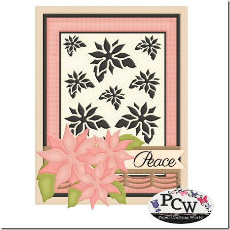 pcw poinsettia stencil card-450