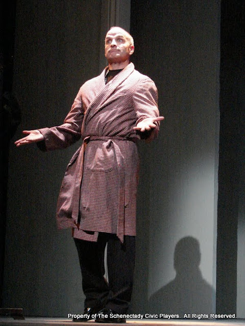 """Marty O'Connor in """"Degas, C'est Moi"""" as part of THE IVES HAVE IT - January/February 2012.  Property of The Schenectady Civic Players Theater Archive."""