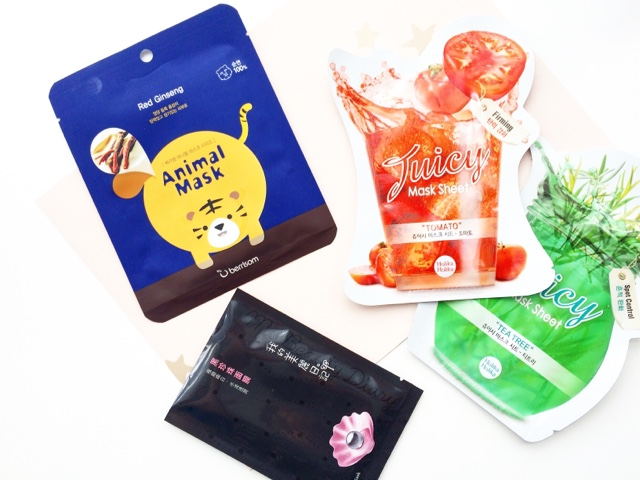 sheet mask haul berrisom animal mask, holika holika, my beauty diary black pearl