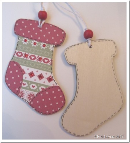 Christmas Stocking Wooden TAG