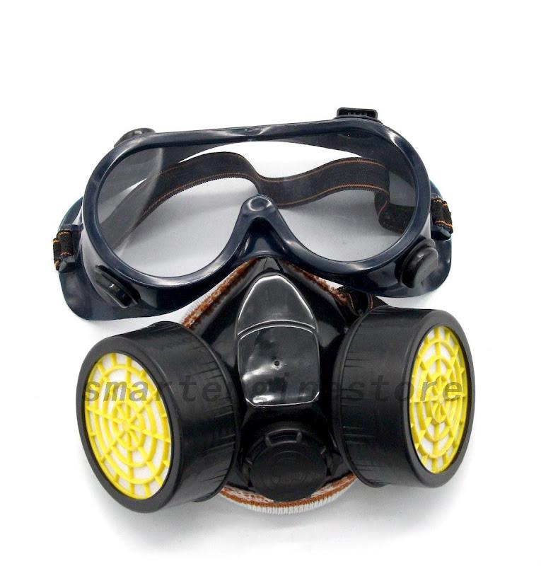 anti gas staub maske arbeit doppelkartuschen schutzmasken gas staubmaske schutz ebay. Black Bedroom Furniture Sets. Home Design Ideas