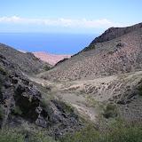 Le vallon de Kadzi-Saj (alt. 2000 m) et le Lac Issyk-Kul (1700 m), 13 juillet 2006. Photo : F. Michel