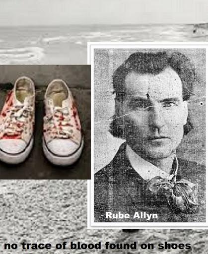 Murder Siesta Key Jan 7 1921 Harry Higel, Killers Size 13 Tracks in Sand Led to Rube Allyn''s House