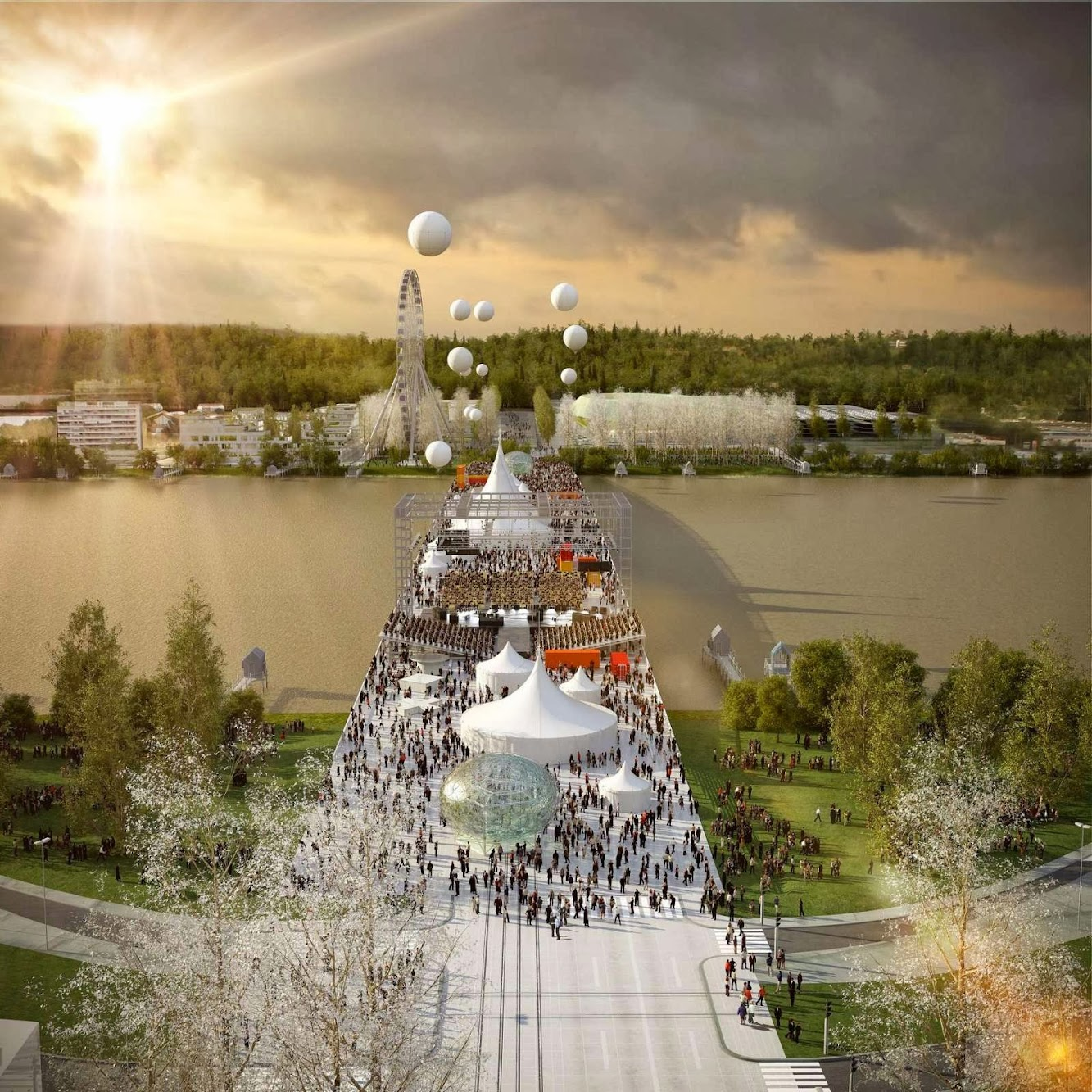 Bordeaux, Francia: Oma Wins Competition to Design Pont Jean-Jacques Bosc in Bordeaux