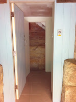 From the Garage Through New Storage Area to New Internal Stairs